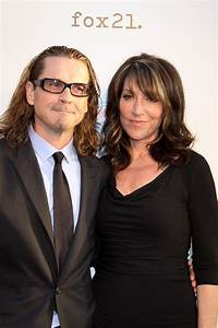 Kurt Sutter and Katey Sagal at the premiere screening of ...