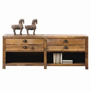 Meuble Tv Tendance : meuble tv en bois massif montana style tendance d co charme ~ Premium-room.com Idées de Décoration