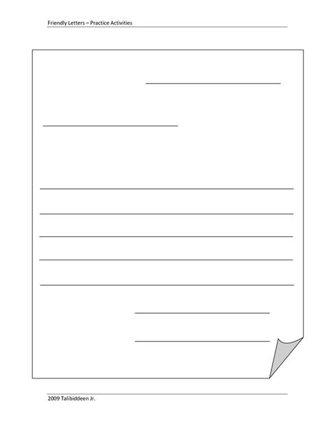 friendly letter template blank letter template for blank template friendly 8842