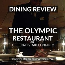 Speciality Dinner In The Olympic Restaurant On Celebrity