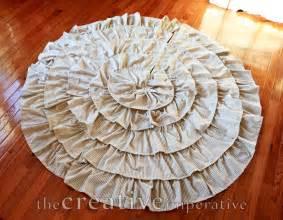 the creative imperative stripey ruffle christmas tree skirt