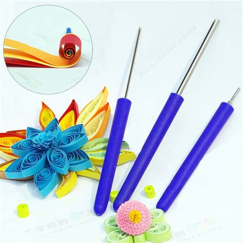 pcsset quilling paper tool slotted paper rolling  diy