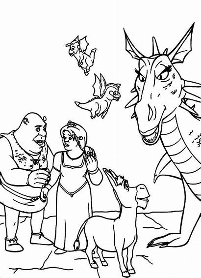 Coloring Pages Shrek Printable Cartoons Related Posts