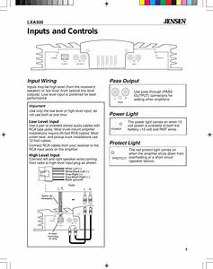 Jensen Car Amplifier Lxa300 Users Manual 5528eamp P65