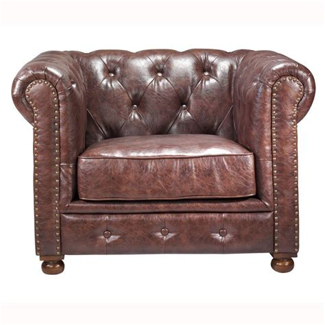 home decorators collection gordon leather arm chair in