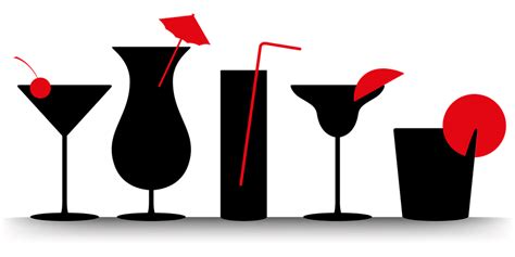 mixed drink clipart black and free vector graphic cocktails summer beverages free