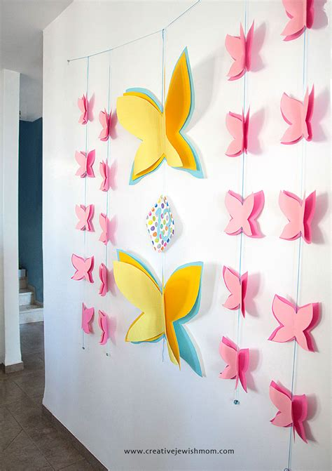 butterfly birthday wall decor  works