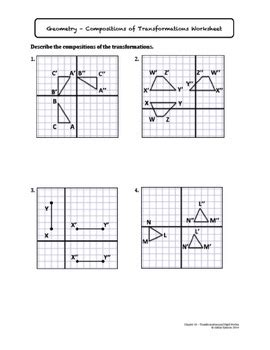 compositions of transformations lesson with homework by spencer