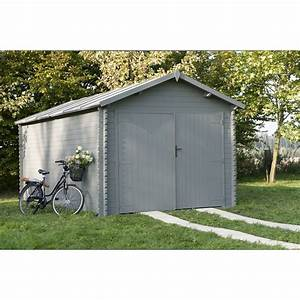 Garage Voiture En Bois : garage bois montagny 1 voiture m leroy merlin ~ Dallasstarsshop.com Idées de Décoration