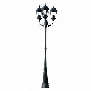 Lampadaire Exterieur Design : la boutique en ligne lampadaire ext rieur triple 230 cm vert fonc noir ~ Teatrodelosmanantiales.com Idées de Décoration