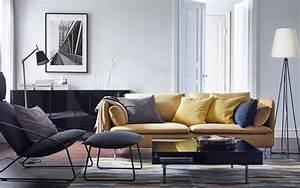 White rug in gray tile floor ikea living room furniture for Home decor for gray furniture