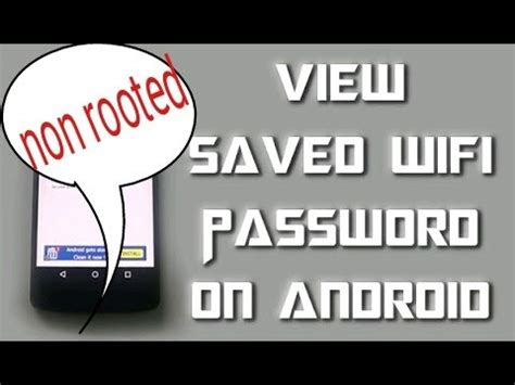 how to see saved wifi password on android how to find saved wifi password in non rooted android