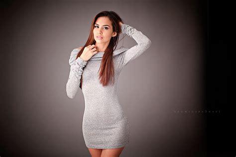 Model, Dress, Skinny, Hands On Head, Portrait, Simple