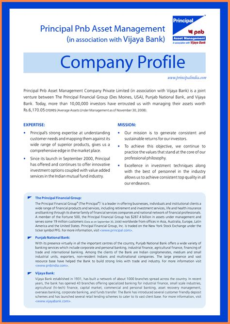 sample  company profile company letterhead
