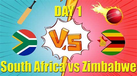 Day 1 South Africa vs Zimbabwe Test Championship 2020