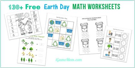 earth day math activities for preschoolers 130 free earth day math printable worksheets for 736