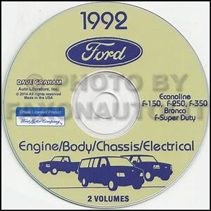 1992 Ford Van Shop Manual On Cd Econoline E150 E250 E350