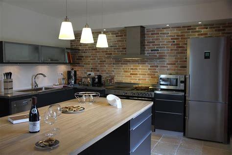 cuisine noir mat et bois stunning cuisine noir mat et bois contemporary design