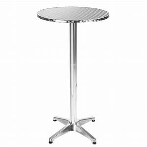 Table Ronde Haute : table de bar table de bistro table haute table de jardin table aluminium 60 cm hauteur ~ Teatrodelosmanantiales.com Idées de Décoration