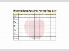 30+ Food Log Templates DOC, PDF, Excel Free & Premium