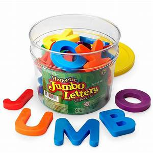 jumbo magnetic letters uppercase set of 40 educational With magnetic letters learning toys