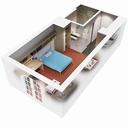 Apartment Bedroom Plans Floor Interior Apartments Plan