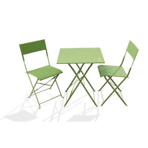 chaises tress es ensemble guéridon de jardin avec 2 chaises pliantes le