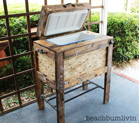 ana white rustic wood cooler box   pallets diy projects