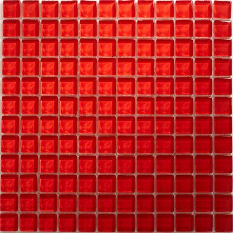 mosaik fliesen rot glasmosaik uni 23x23x8mm rot tb10018m
