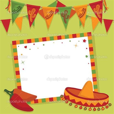 mexican themed powerpoint template mexican invitation templates free quot invites quot templates free