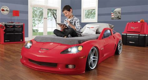 Corvette Toddler Bed by Step2 Corvette Bed With Lights Silver