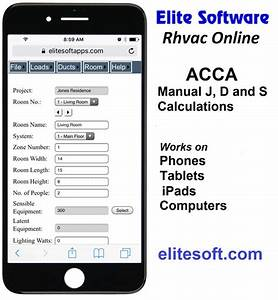 Rhvac Online Web App For Acca Manual J  D  And S