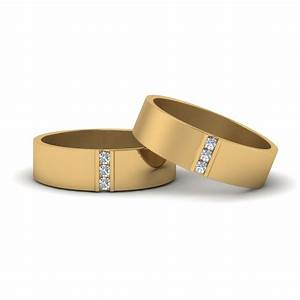 personalized gay wedding band with diamonds in 14k yellow With gay mens diamond wedding rings