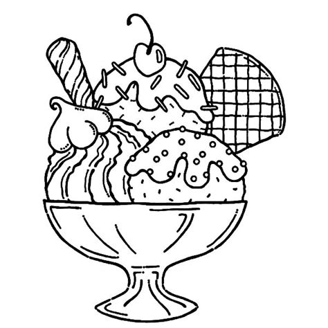 whipped cream coloring pages