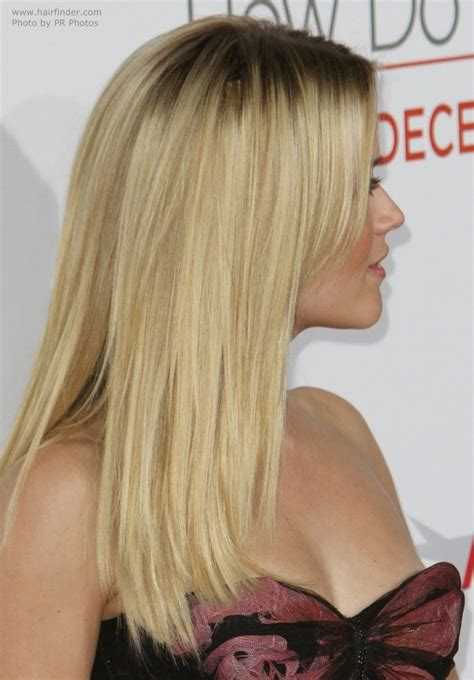 reese witherspoon wearing  long hair angled   sides
