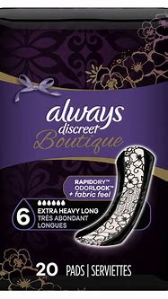 Always Discreet Boutique Incontinence Pads, Extra Heavy ...
