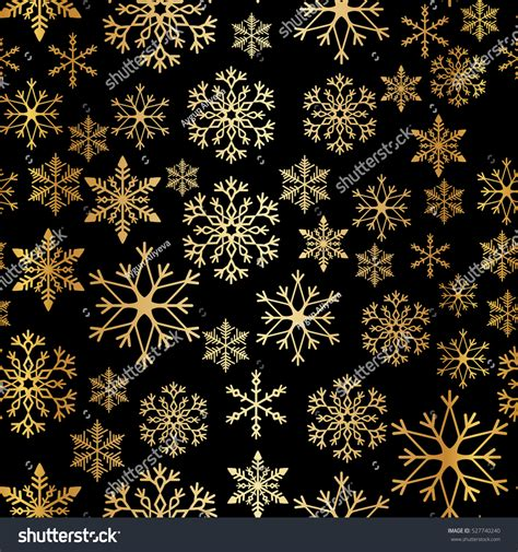 Background Gold Snowflake Seamless Wallpaper by Snowflake Simple Seamless Pattern Gold Snow Stock Vector