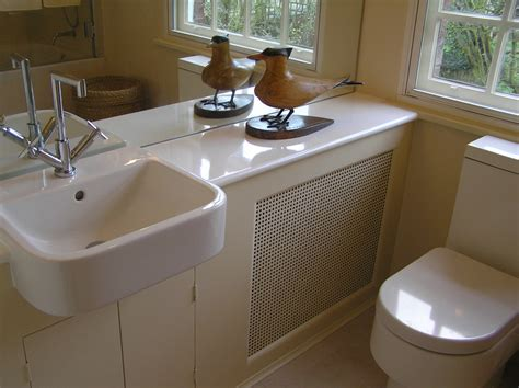 Semi-recessed-sink-bathroom-traditional-with-beige-conceal