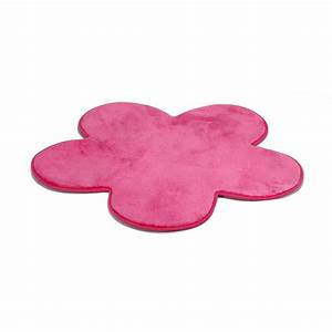 tapis rose en forme de fleur rose sweet tapis enfants With tapis fleur bebe