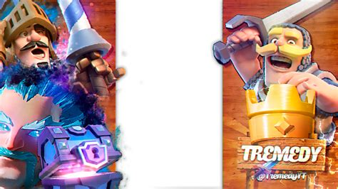 Clash Royale Thumnail Template by Overlay Clash Royale For Tremedy By Flopperdesigns On