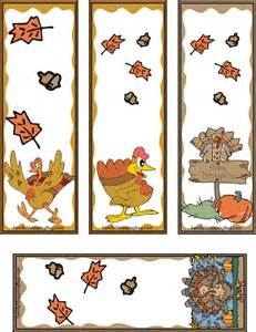thanksgiving turkey bookmarks and thanksgiving on