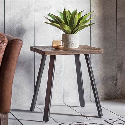 Side Table Rustic Tables Camden Wooden Somers
