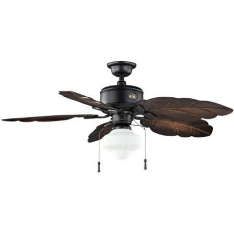 home depot 52 inch ceiling fans hton bay nassau 52 in natural iron indoor outdoor