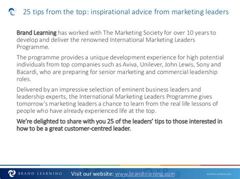 How To Be A Great Marketing Leader 25 Tips From The Best