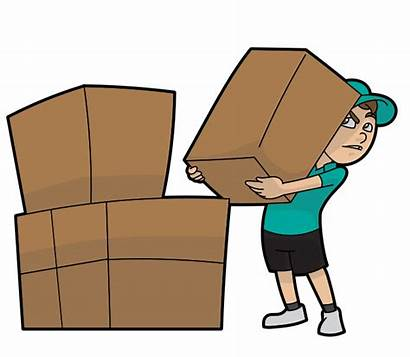 Lifting Cartoon Boxes Svg Delivery Courier Shipment