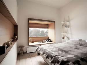 Banc d39interieur au rebord de la fenetre 40 idees chic en for Chambre à coucher adulte avec restauration fenetre bois