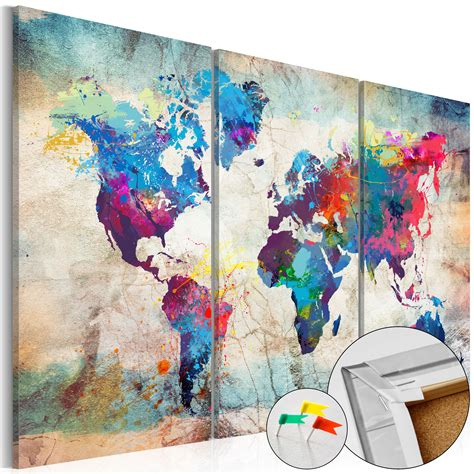Toile Carte Du Monde by Tableau Liege Image Sur Toile 3 Formats Carte