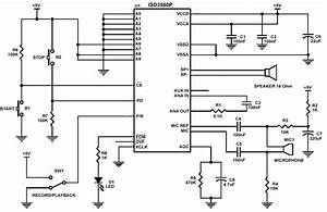 Digital Voice Recorder Isd2560 Circuit Diagram World