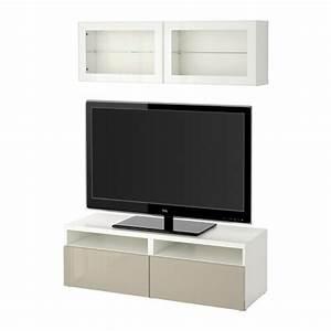 Tv Lowboard Ikea : best tv storage combination glass doors white selsviken ~ A.2002-acura-tl-radio.info Haus und Dekorationen