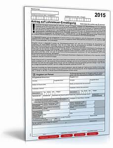 Antrag auf lohnsteuer ermassigung 2015 formular zum download for Lohnsteuerformular